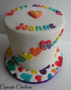 Rainbow Birthday cake, 6 layers