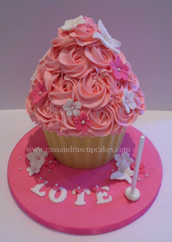 Pretty 1st Birthday Giant Cupcake
