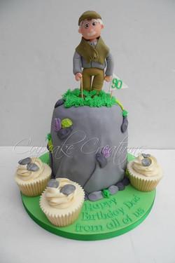 90th Birthday Cake for an avid walker