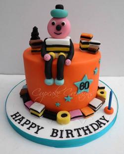 Bertie Basset themed cake
