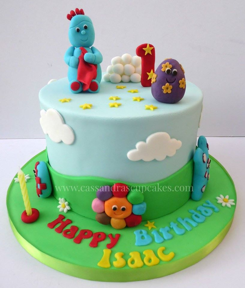 In the Night Garden themed 1st birthday cake design based around an image supplied