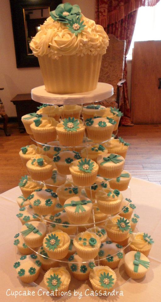 Giant Wedding Cupcake & Cupcakes