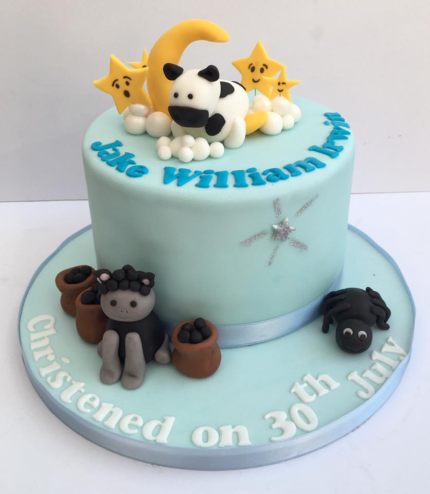 Nursery Rhyme themed Christening Cake