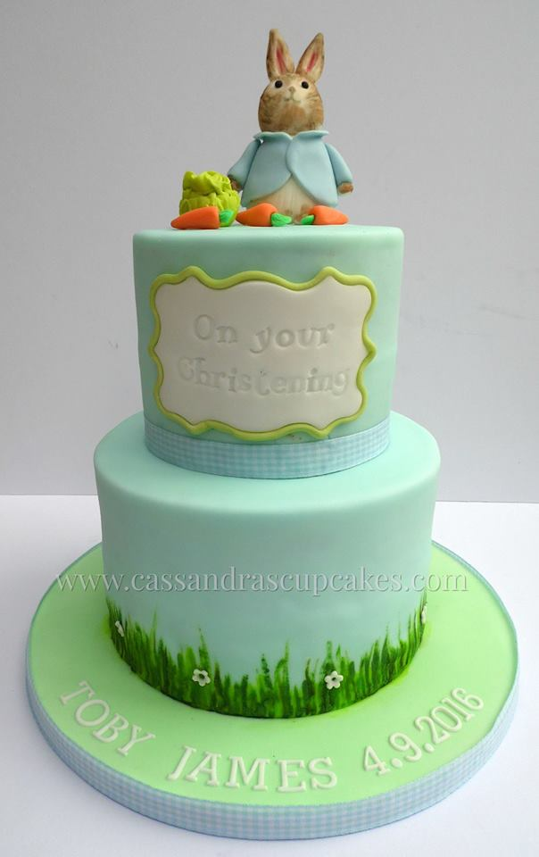 Peter Rabbit 2 Tier Christening Cake