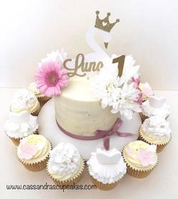 Gorgeous swan princess themed 1st birthd