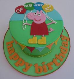 Peppa Pig Balloon Birthday Cake