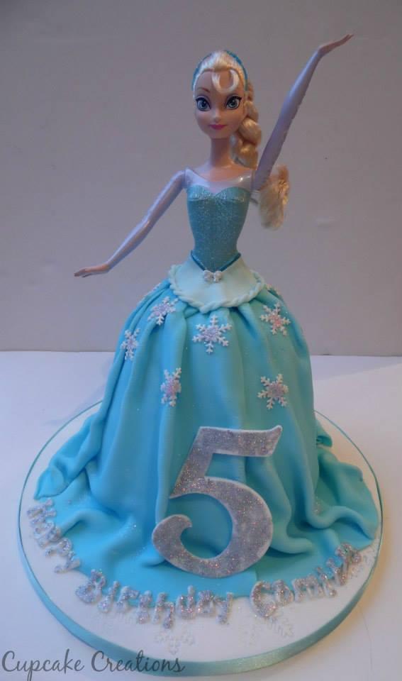 Frozen Doll Birthday Cake
