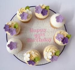 91st Birthday Cupcake Board
