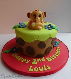 Lion Theme birthday cake