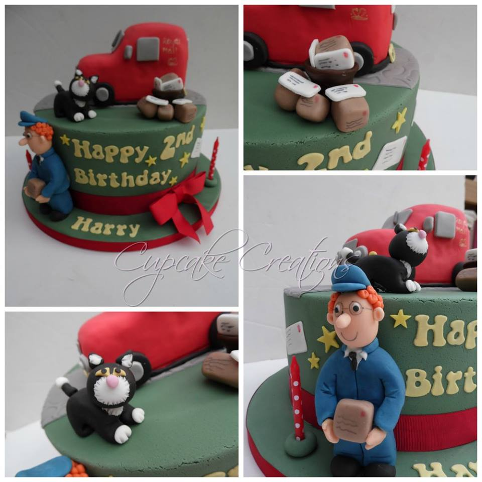 Postman Pat themed Birthday Cake