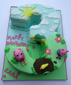 Peppa Pig themed number 3