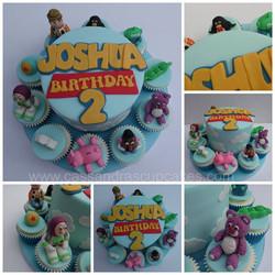 Toy Story themed Birthday Cake & Cupcakes