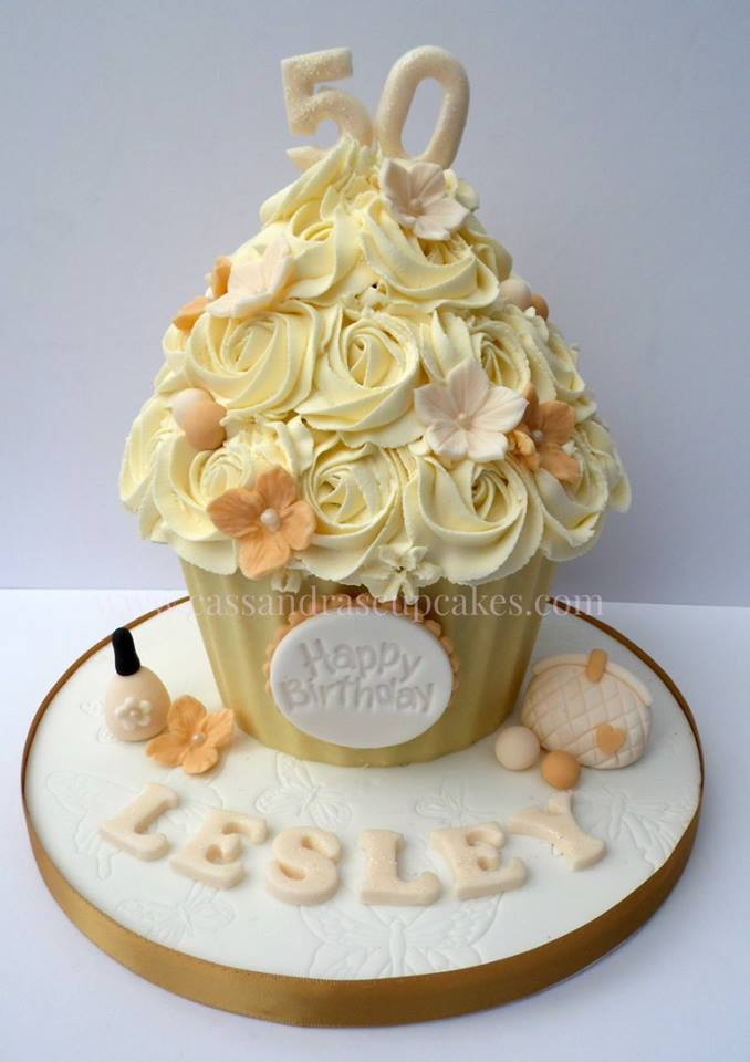 50th birthday giant cupcake