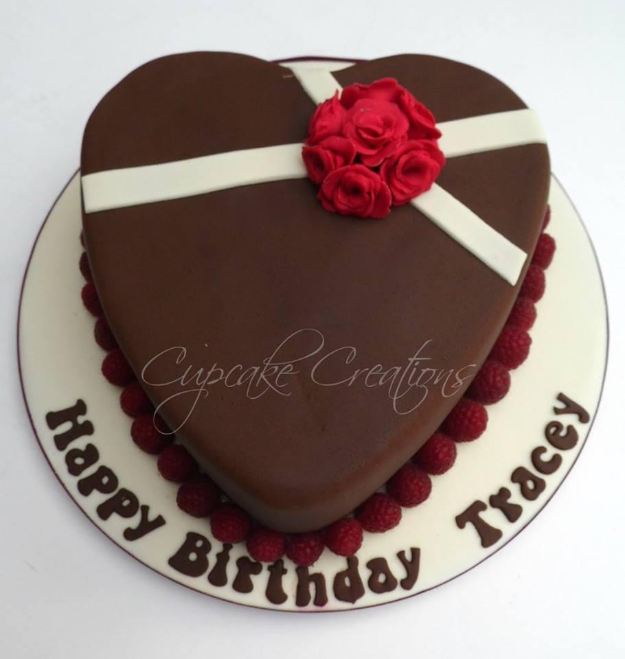 Chocolate Mud Heart Cake