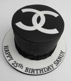 Chanel Themed Birthday Cake