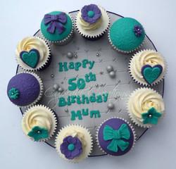 50th Birthday Cupcake Board