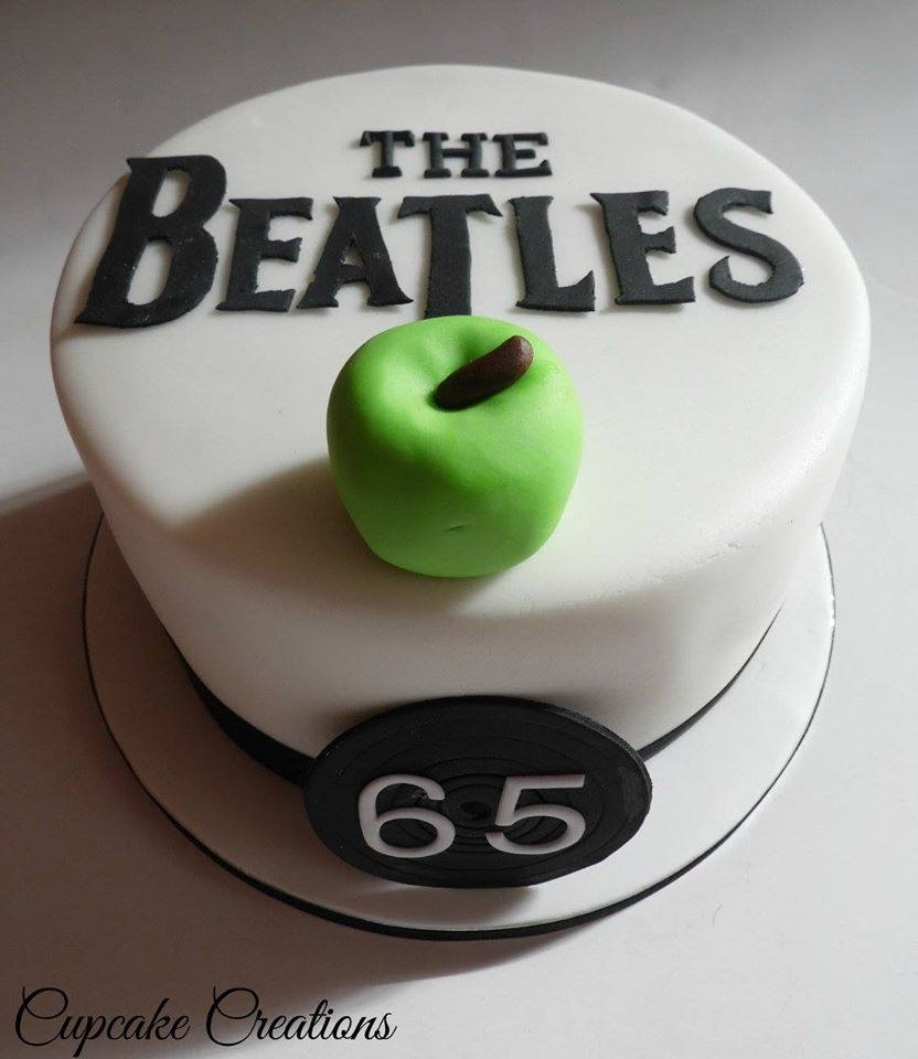 Beatles Themed Birthday Cake
