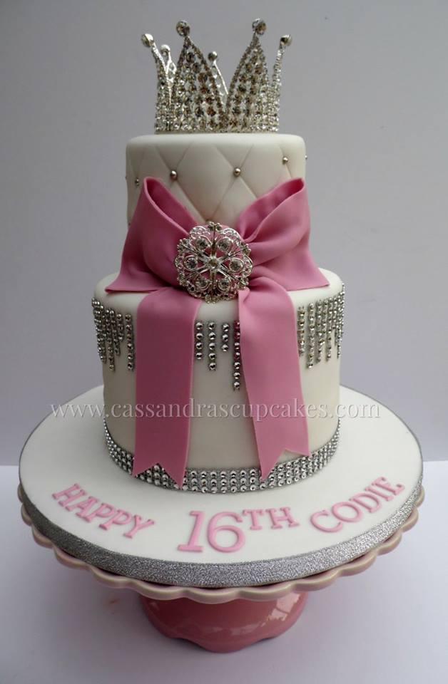Glitzy 16th Birthday Cake
