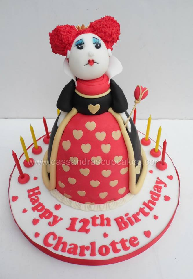 Queen of Hearts Birthday Cake