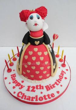 Queen of Hearts Birthday Cake