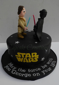 Star Wars Themed Birthday Cake