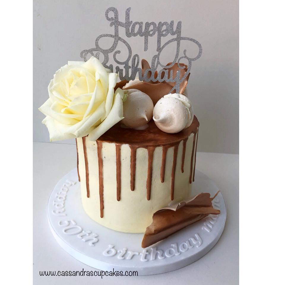 50th birthday drip cake
