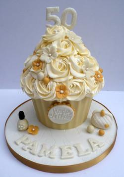 50th Birthday Giant Cupcake