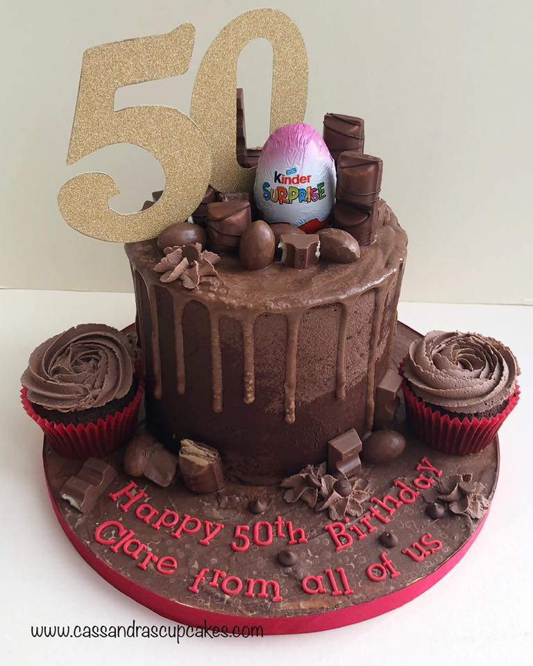 50th Kinder Drip Cake