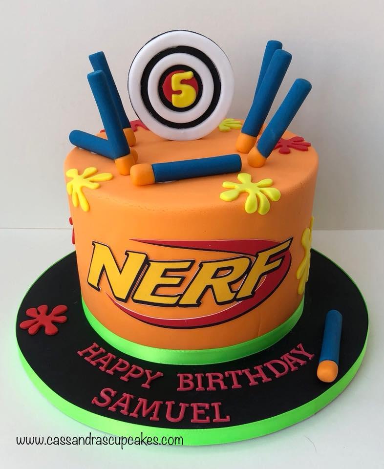 Nerf_themed_cake_🎯