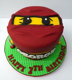 Lego Ninjago themed cake