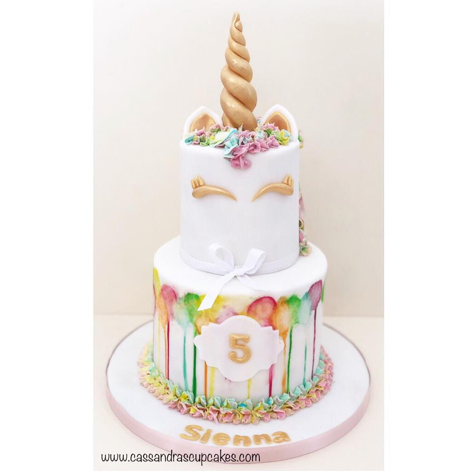 Unicorn birthday cake Huddersfield
