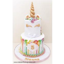 Unicorn birthday cake Huddersfield