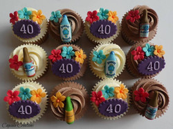 Choc & Vanilla 40th Birthday Cupcakes