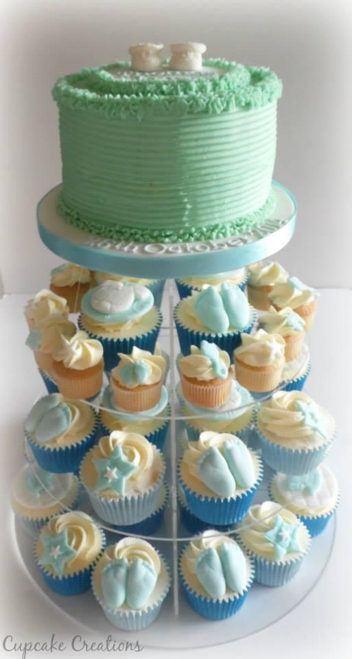 Buttercream Christening Cake & Cupcakes