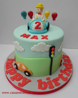 Cute car themed cake for Max 2nd birthday