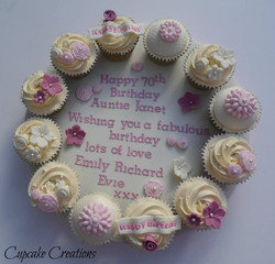 Pastel Cupcake Board
