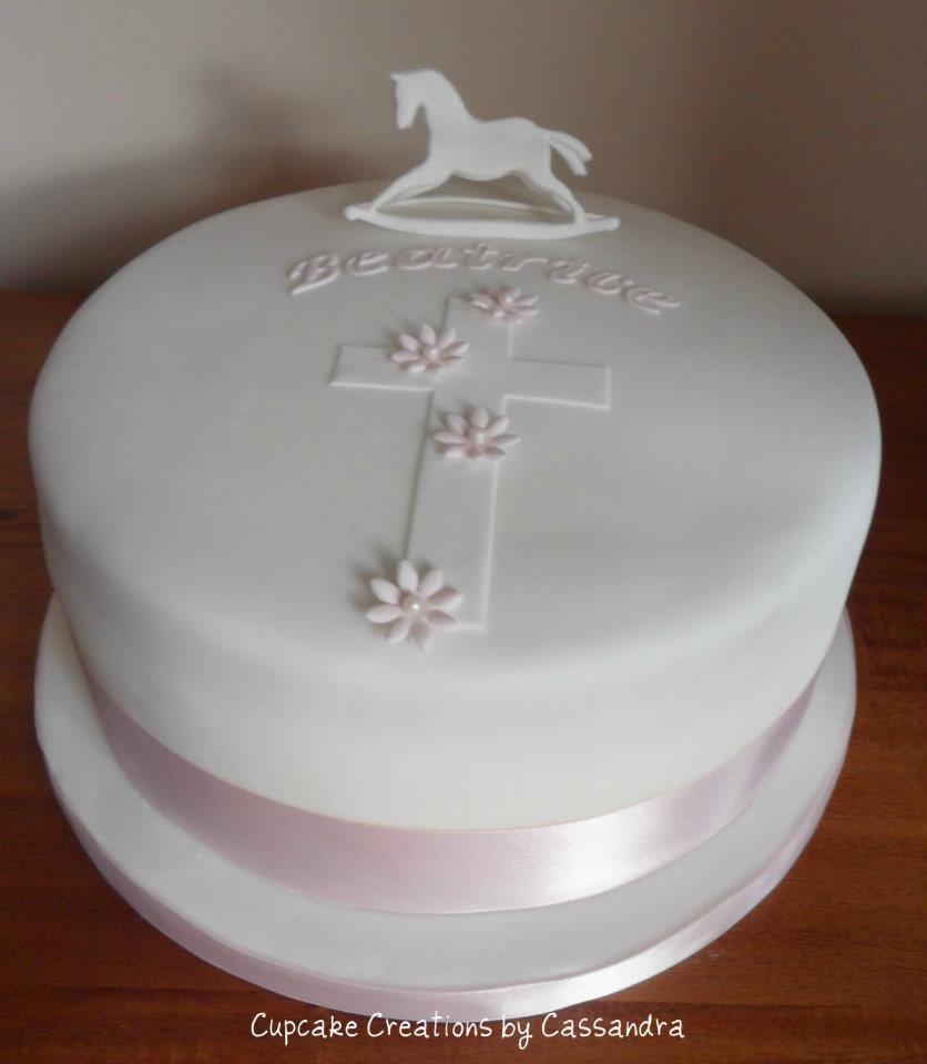 Horse Theme Christening Cake
