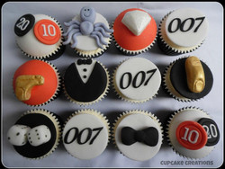 Bond Theme Cupcakes