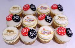 60th birthday Las Vegas themed cupcakes