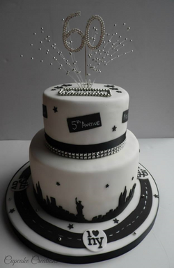 New York 60th birthday cake