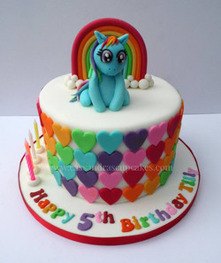 My Little Pony themed cake design based around an image supplied