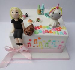 40th themed birthday cake