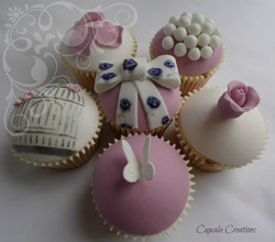 Vintage Themed Birthday Cupcakes