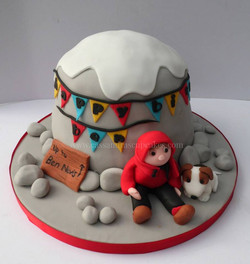 Cimbing themed cake