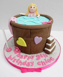 Hot Tub themed Birthday Cake