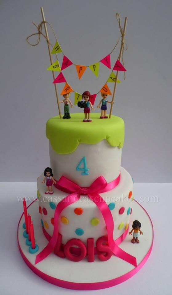 2 Tier Lego Friends Birthday Cake