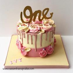 First birthday drip cake