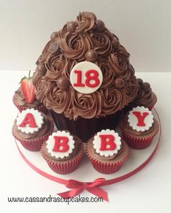 18th Birthday Giant Cupcake