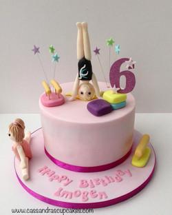 Gymnastics 🤸♀️ themed birthday cake