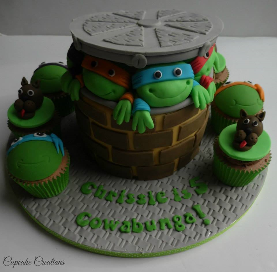 Turtles & Scooby Doo Cake & Cupcakes